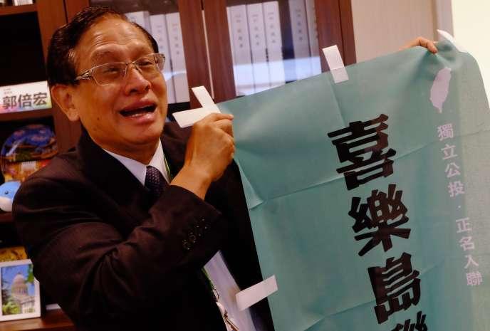 Photo de Kuo Pei-hung, le chef de l'Alliance Formose, le 28 septembre 2018