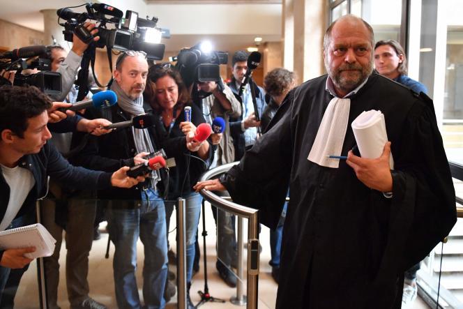 Eric Dupont-Moretti, avocat de Wojciech Janowski,à lacour d'assises des Bouches-du-Rhône à Aix-en-Provence, le 17 octobre.