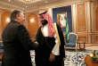 Le secrétaire d'Etat américain, Mike Pompeo, lors de sa rencontre avec le prince héritier Mohammed Ben Salman, à Riyad, le 16 octobre.