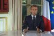 Extrait vidéo de l'allocution d'Emmanuel Macron à l'Elysée le 16 octobre.
