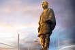 Image d'artiste de la statue de 182 mètres de haut à l'effigie de Vallabhbhai Patel qui sera la plus élevée du monde.
