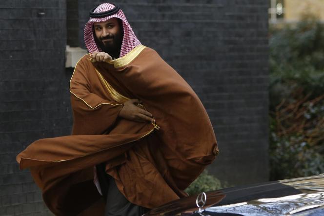 Le prince héritier saoudien Mohammed Ben Salman, le 7 mars 2018, lors de son passage à Londres.