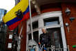 Julian Assange, le 19 mai 2017 à Londres, dans l'ambassade équatorienne.