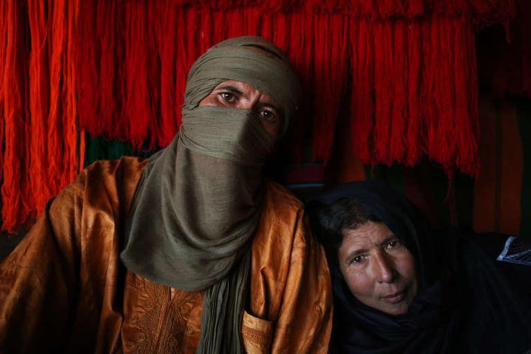 Couple touareg dans le désert libyen, en décembre 2013.