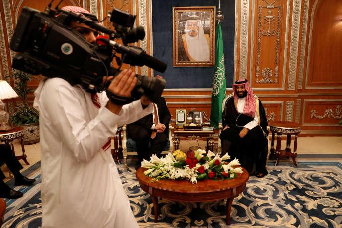Leprince héritier saoudien, Mohammed Ben Salman, à Riyad (Arabie saoudite), le 16 octobre.