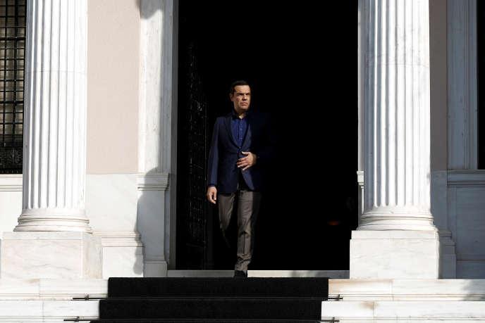 Alexis Tsipras, à Athènes, le 17 octobre 2018.