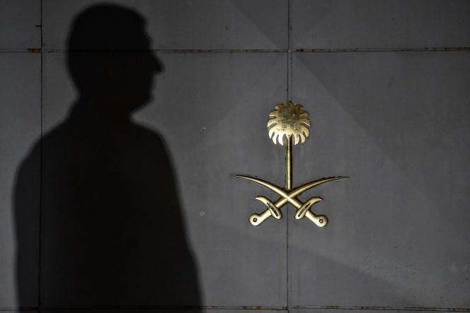 Devant le consulat saoudien d'Istanbul.