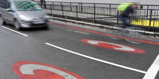 L'entrée de la zone soumise à péage à Londres.