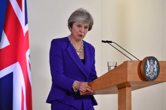 La première ministre du Royaume-Uni, Theresa May, le 18 octobre à Bruxelles.