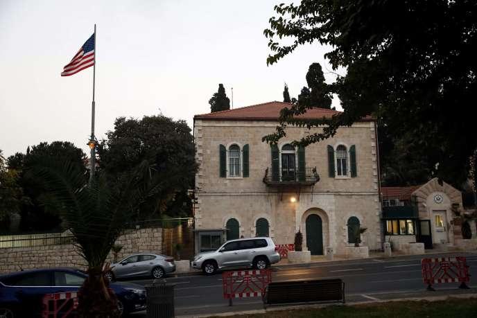 Le consulat américain à Jérusalem, le 18 octobre.