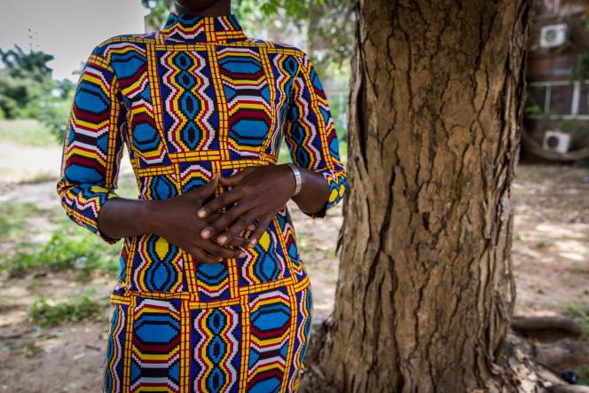 Marie (nom d'emprunt), l'une des nombreuses victimes de harcèlement sexuel dans les lycées sénégalaise, le 17 octobre 2018.