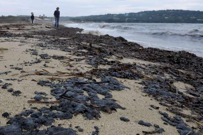 Sur la plage de Pampelonne à Ramatuelle dans le Var, le 16 octobre.