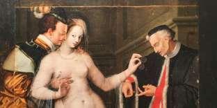 Une scène de comédie dite « La Femme entre les deux âges» (1580-1585), peinture anonyme récemment restaurée par le Centre de recherche et de restauration des musées de France