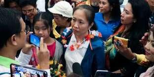 Nguyen Ngoc Nhu Quynh, connue sous le nom de « Mère champignon», son pseudonyme sur la Toile, le 18 octobre à son arrivée à Houston (Texas).