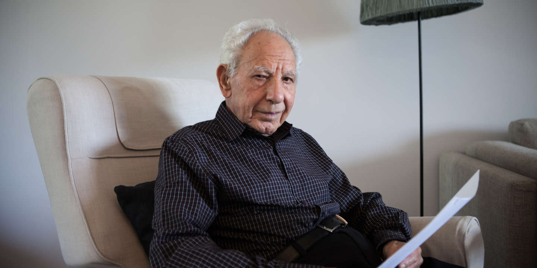 Riad al-Turk, 88 ans, le veteran d'opposition syrienne, l'ancien prisonnier politique. Il vient d'arriver en France en été 2018 après 10 ans de clandestinité.