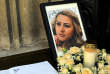 La photo de Viktoria Marinova lors de ses obsèques, le 12 octobre 2018.