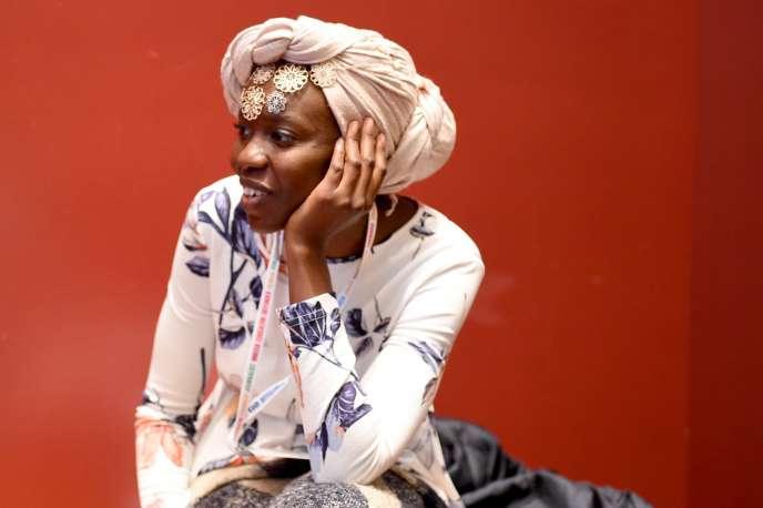 La poètesse soudanaise Emtithal Mahmoud, à New York, le 26septembre.