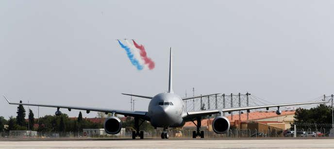 Le MRTT A330 « Phenix », sur la base militaire d'Istres, le 19 octobre.