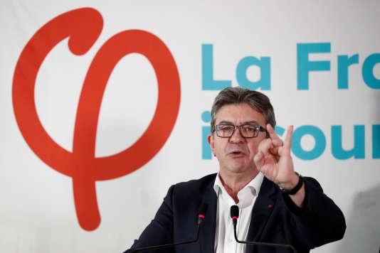 Jean-Luc Mélenchon lors de sa conférence de presse du 19 octobre.