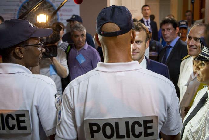 Emmanuel Macron à Fort-de-France, jeudi 27 septembre.