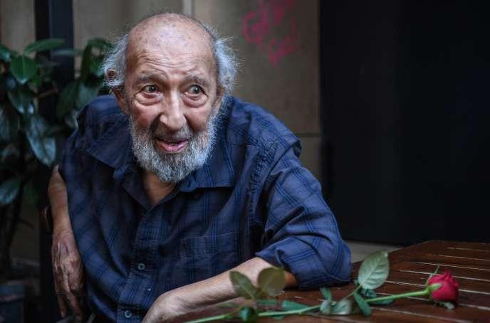 Le photographe Ara Güler à Istanbul, le 16 août 2018.