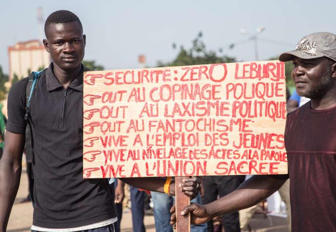 Manifestation contre la politique du président Roch Marc Christian Kaboré, en novembre 2015, à Ouagadougou.