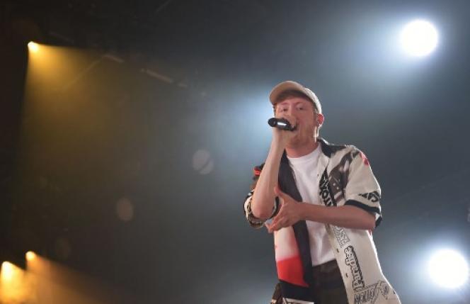 Le chanteur Eddy de Pretto lors des Eurockéennes de juillet 2018, à Belfort.