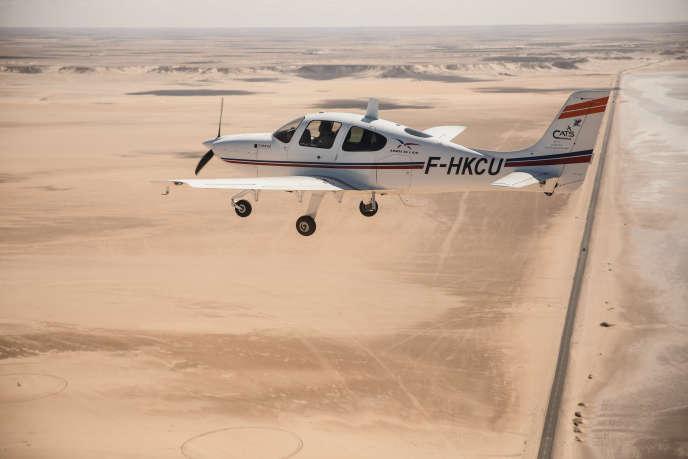 Survol de la Mauritanie lors du raid Latécoère-Aéropostale, en octobre 2018.