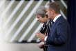Theresa May et Donald Tusk, le président du Conseil européen, à Bruxelles, le 19 octobre.