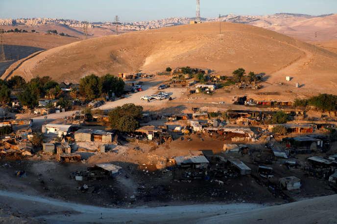 Le village bédouin de Khan Al-Ahmar, photographié le 11septembre.