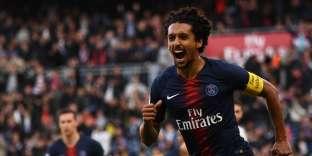 Capitaine ce samedi, Marquinhos a inscrit le premier but du PSG contre Amiens.