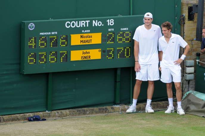 La victoire de John Isner sur Nicolas Mahut par 68 jeux à 70 le 24 juin 2010 restera le long match jamais joué à Wimbledon.