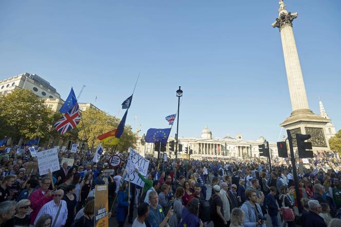 La manifestation contre le Brexit, le 20octobre à Londres, était la plus importante depuis le vote de 2016.