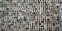 Mur de photographies de juifs déportés de France. A Paris, en janvier 2005.