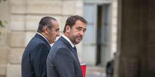 Christophe Castaner, ministre de l'Intérieur et Laurent Nuñez, secrétaire d'Etat, à l'Elysée, le 17 octobre.