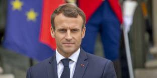 Emmanuel Macron, au palais de l'Elysée à Paris, le 17 octobre.