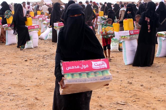 Une déplacée yéménite originaire d'Hodeïda dans la province de Hajjah dans le nord-ouest du pays, le 20 octobre.