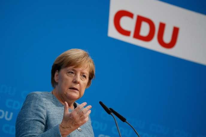 Angela Merkel à Berlin le 21 octobre.