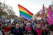 Manifestation contre les«violences LGBTphobes», place de la République, à Paris, le 21 octobre.