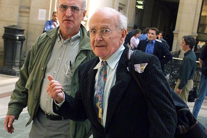 Robert Faurisson au tribunal de Paris, le 14 septembre 2000.
