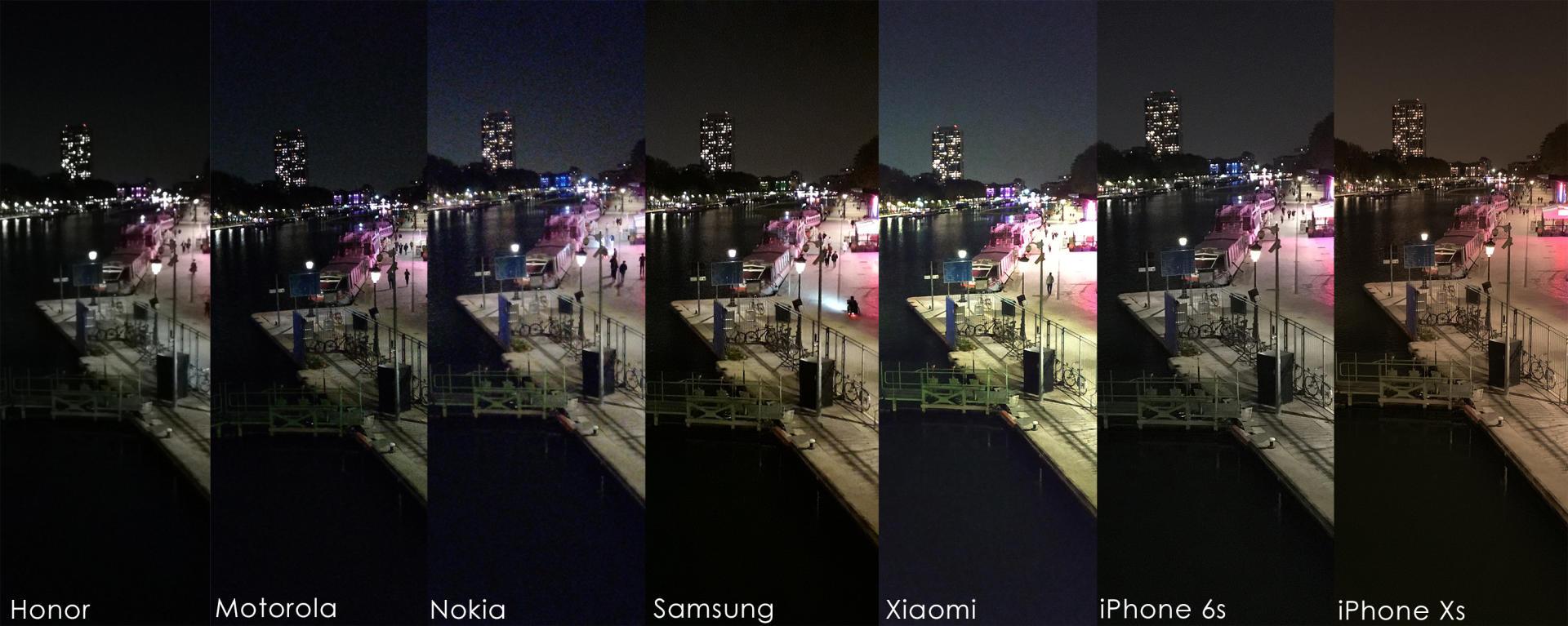 La nuit, le Xiaomi Redmi Note 5 est le seul mobile à 200 euros qui capture le plus souvent des photos honnêtes. Dans les mêmes conditions, les photos de l'iPhone Xs sont largement meilleures.