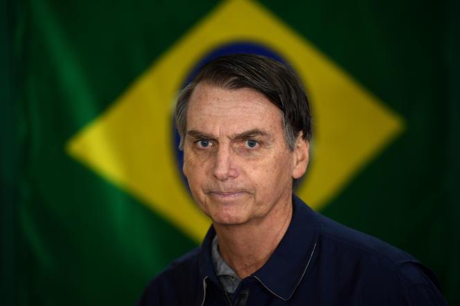 Le candidat du Parti social libéral (PSL) à l'élection présidentielle brésilienneJair Bolsonaro, à Rio de Janeiro, en octobre.