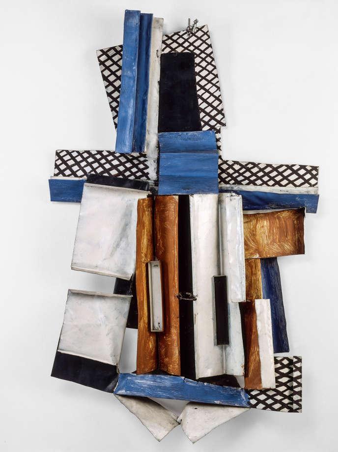 «Violon» (1915), de Pablo Picasso, tôle découpée, pliée, peinte, et fil de fer.