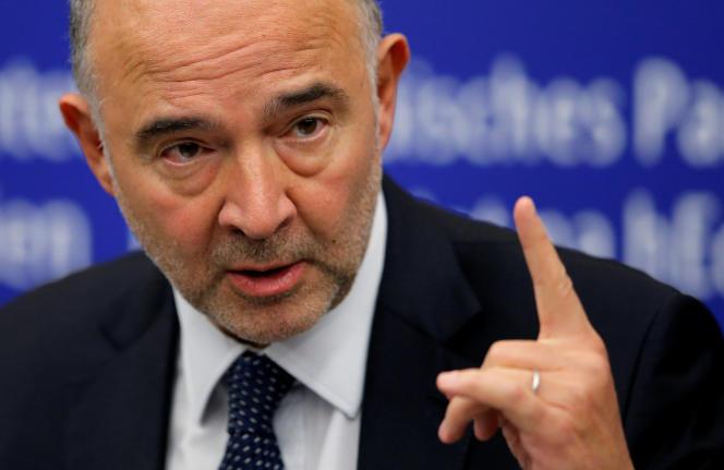 Pierre Moscovici à Strasbourg le 23 octobre 2018.