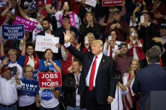 Donald Trump à Houston, au Texas, pour soutenir le sénateur Ted Cruz, le 22 octobre.