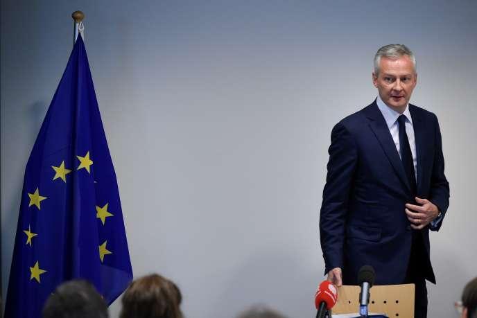 Le ministre de l'économie, Bruno Le Maire, à Luxembourg, le 1er octobre.