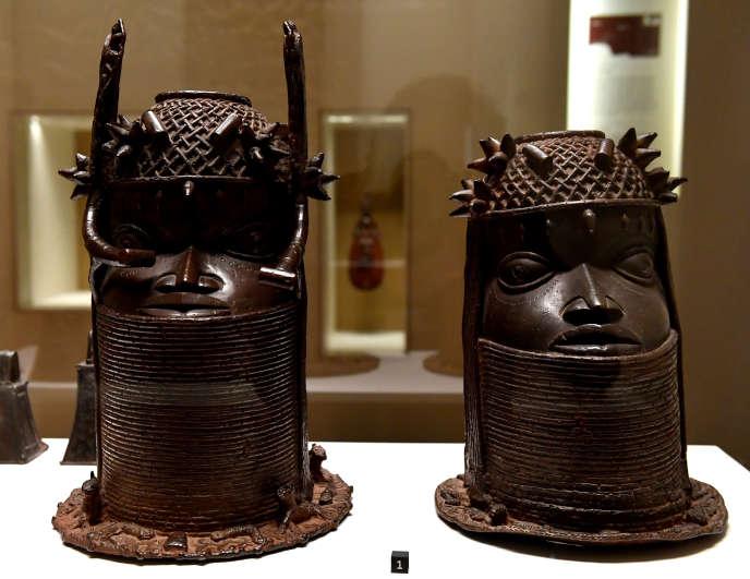 Des sculptures de l'ancien Royaume du Bénin exposées au musée duQuai Branly à Paris dont le Bénin demande la restitution.