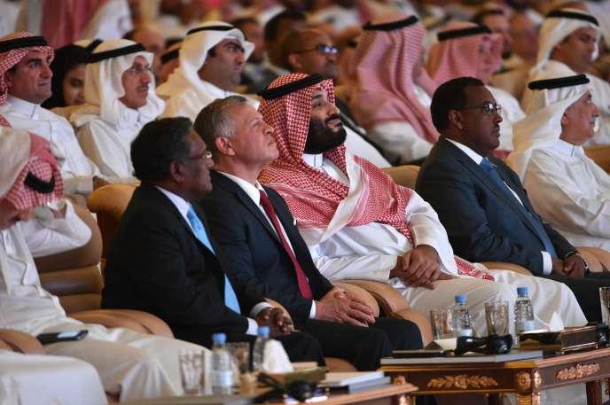 Le prince héritier saoudien Mohammed Ben Salman, d'abord annoncé absent, a finalement fait une apparition lors du forum économique organisé à Riyad, mardi 23 octobre.