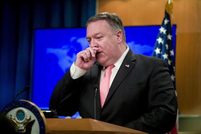 La déclaration de Mike Pompeo (ici à Washington le 23 octobre) intervient alors que la question des ventes d'armes à l'Arabie saoudite a rebondi avec le meurtre de Jamal Khashoggi.
