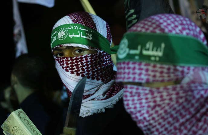 Rassemblement des membres du Hamas à Gaza, le 5 octobre 2015.